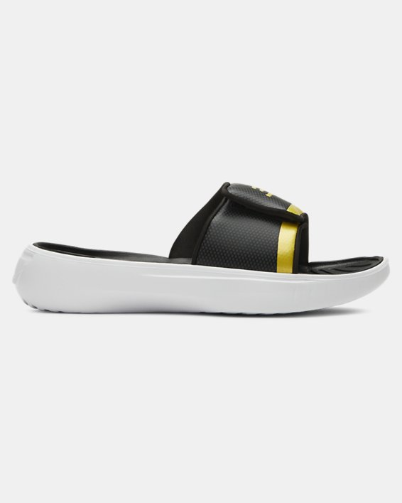 Boys' UA Curry 6 Slides, Black, pdpMainDesktop image number 0