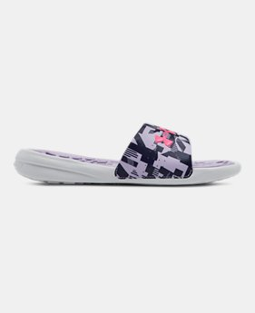 New Arrival Girls  UA Playmaker Jagger Slides 1 Color Available  28 5e22f54b6a74f