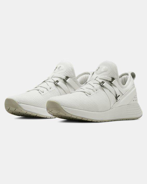 Chaussures d'entraînement UA Breathe Trainer pour femme, White, pdpMainDesktop image number 4