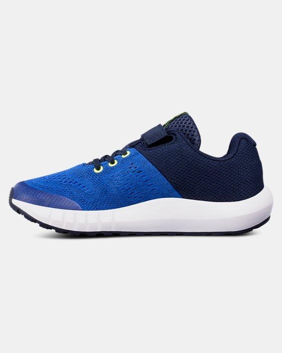 Boys' Pre-School UA Pursuit AC Running Shoes, Blue, pdpMainDesktop image number 1