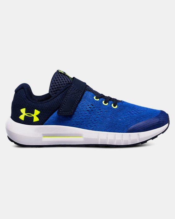 Boys' Pre-School UA Pursuit AC Running Shoes, Blue, pdpMainDesktop image number 0