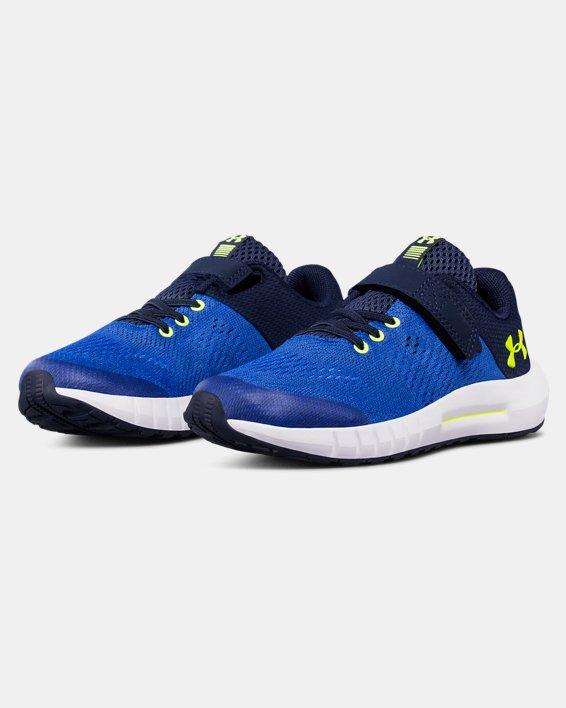 Boys' Pre-School UA Pursuit AC Running Shoes, Blue, pdpMainDesktop image number 4
