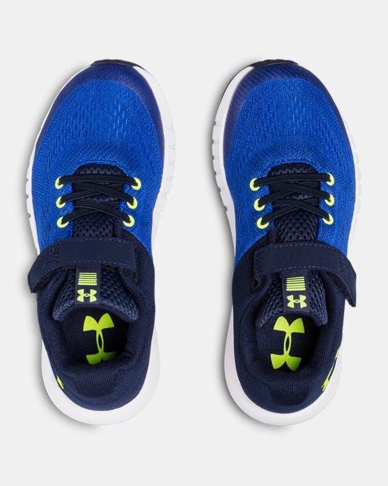 Boys' Pre-School UA Pursuit AC Running Shoes, Blue, pdpMainDesktop image number 3