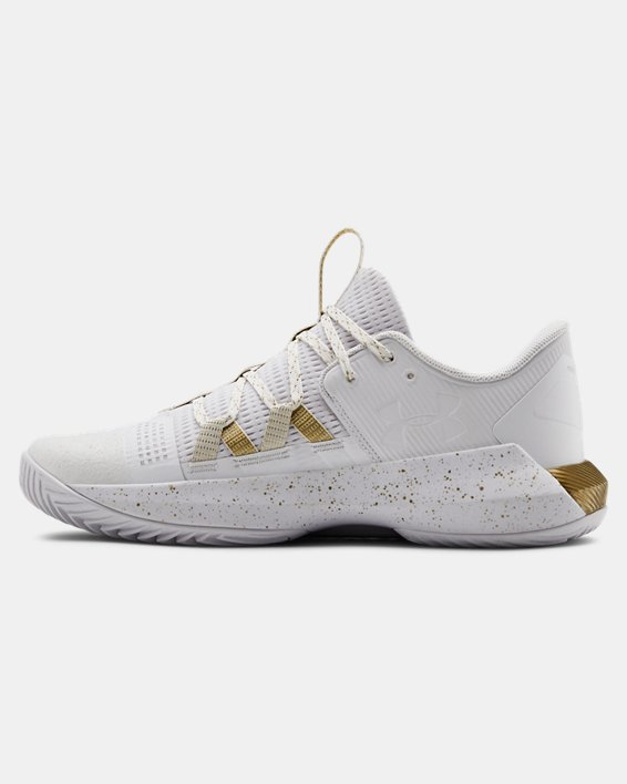 Women's UA Block City 2.0 Volleyball Shoes, White, pdpMainDesktop image number 1