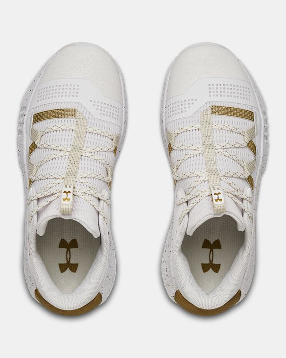 Women's UA Block City 2.0 Volleyball Shoes, White, pdpMainDesktop image number 3