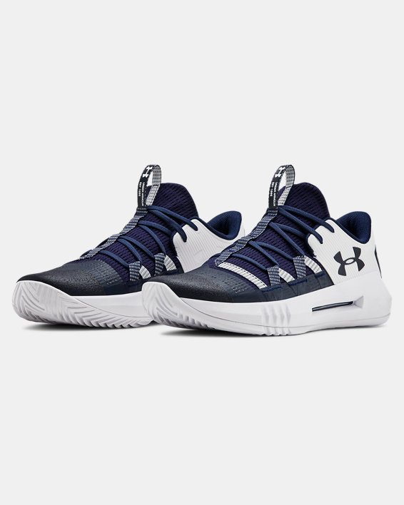 Women's UA Block City 2.0 Volleyball Shoes, Navy, pdpMainDesktop image number 4