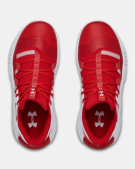 Women's UA Block City 2.0 Volleyball Shoes, Red, pdpMainDesktop image number 3