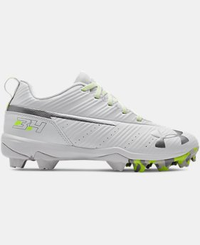 New Arrival Boys' UA Harper 3 Low RM Jr. Baseball Cleats  2  Colors Available $35