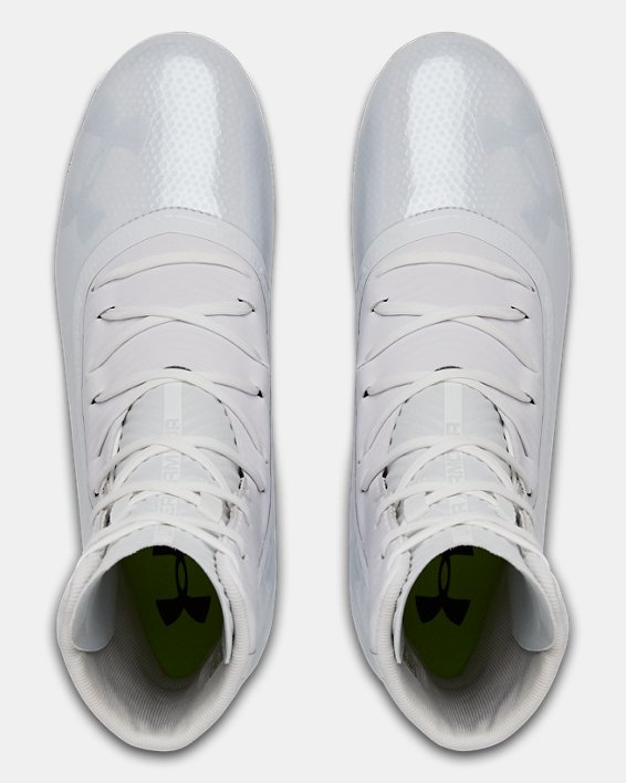 Men's UA Highlight MC Football Cleats, White, pdpMainDesktop image number 3