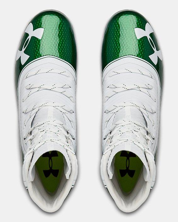 Men's UA Highlight MC Football Cleats, Green, pdpMainDesktop image number 3