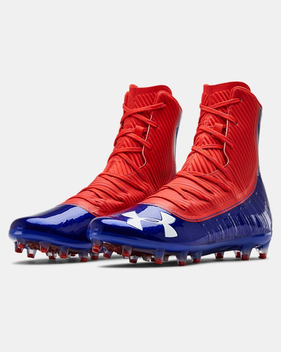 Men's UA Highlight MC Football Cleats, Blue, pdpMainDesktop image number 4