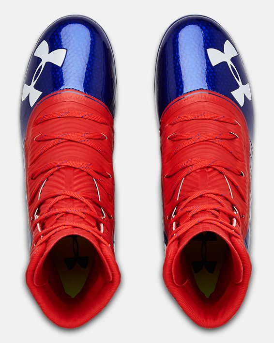 Men's UA Highlight MC Football Cleats, Blue, pdpMainDesktop image number 3