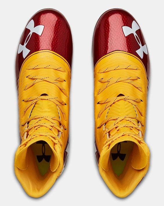 Men's UA Highlight MC Football Cleats, Red, pdpMainDesktop image number 3