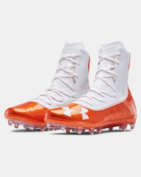 Men's UA Highlight MC Football Cleats, Orange, pdpMainDesktop image number 4