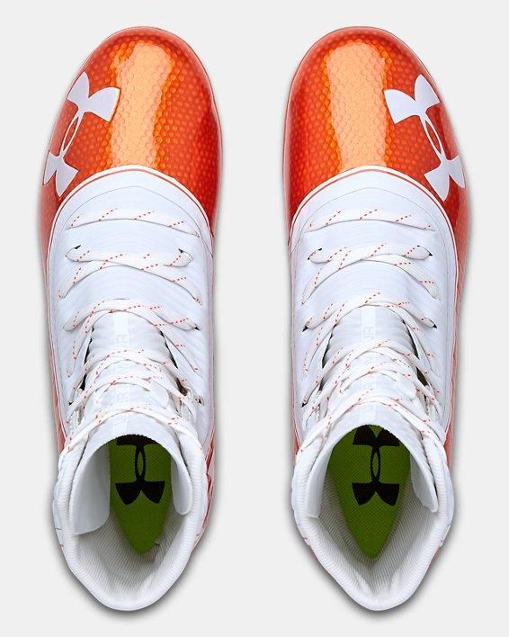 Men's UA Highlight MC Football Cleats, Orange, pdpMainDesktop image number 3