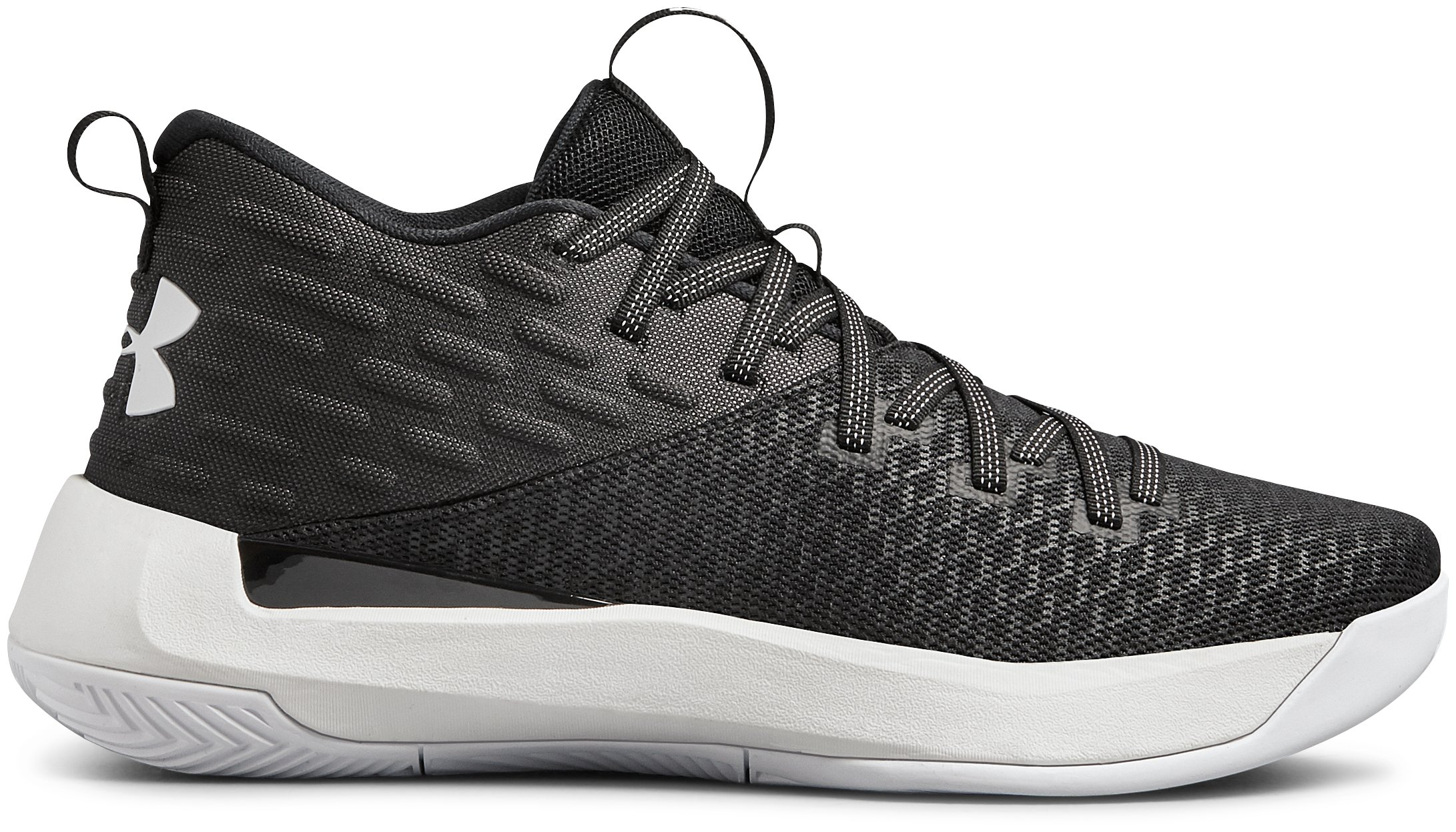 Women's UA Lightning 5 Basketball Shoes, Black , zoomed
