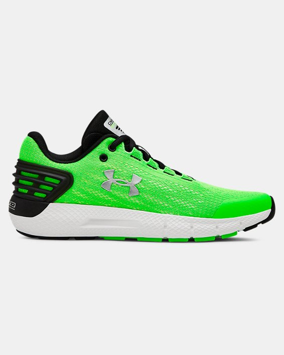 Boys' Grade School UA Charged Rogue Running Shoes, Green, pdpMainDesktop image number 0