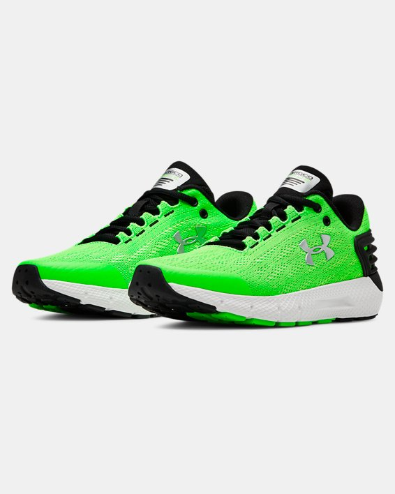 Boys' Grade School UA Charged Rogue Running Shoes, Green, pdpMainDesktop image number 3