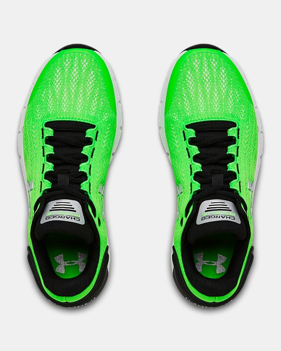 Boys' Grade School UA Charged Rogue Running Shoes, Green, pdpMainDesktop image number 2