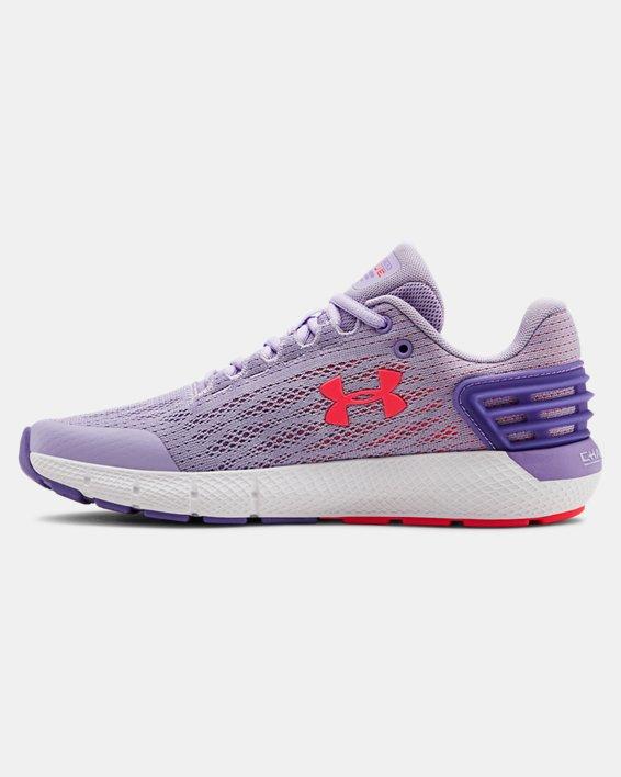Girls' Grade School UA Charged Rogue Running Shoes, Purple, pdpMainDesktop image number 1