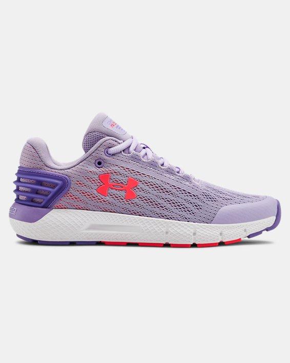 Girls' Grade School UA Charged Rogue Running Shoes, Purple, pdpMainDesktop image number 0