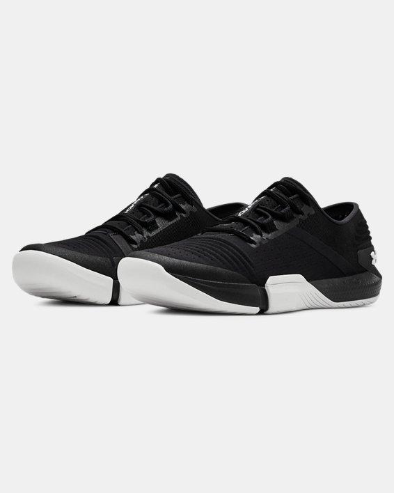 Women's UA TriBase™ Reign Training Shoes, Black, pdpMainDesktop image number 4
