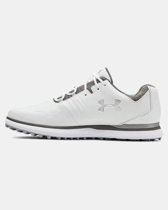 Men's UA Showdown SL Golf Shoes, White, pdpMainDesktop image number 1