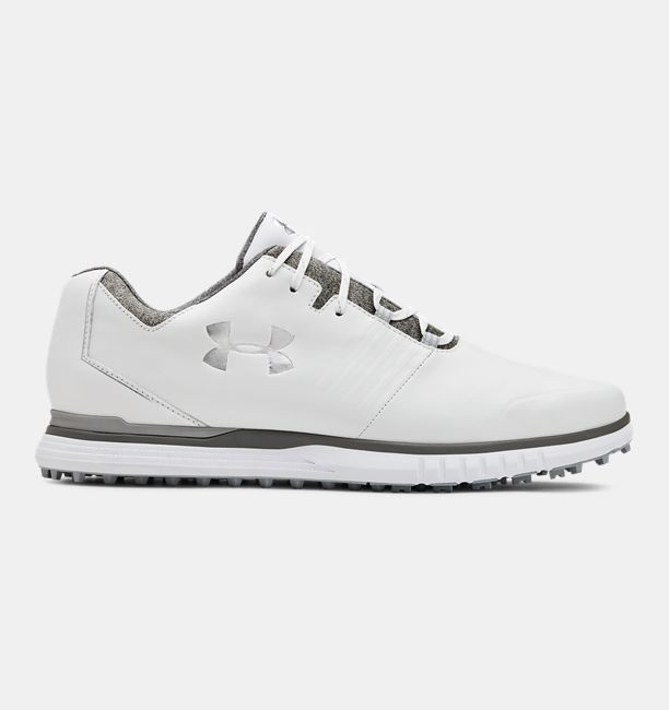 Men's UA Showdown SL Golf Shoes, White, , White, Click to view full size