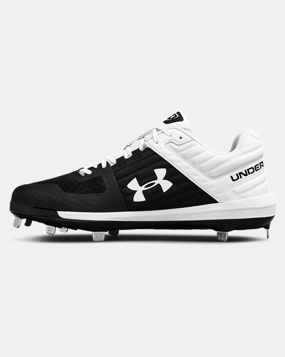Men's UA Yard Low ST Baseball Cleats, Black, pdpMainDesktop image number 1