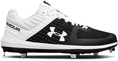 Under Armour Mens Size 8 Yard Low ST Baseball Cleats White 1293900-100 Shoes
