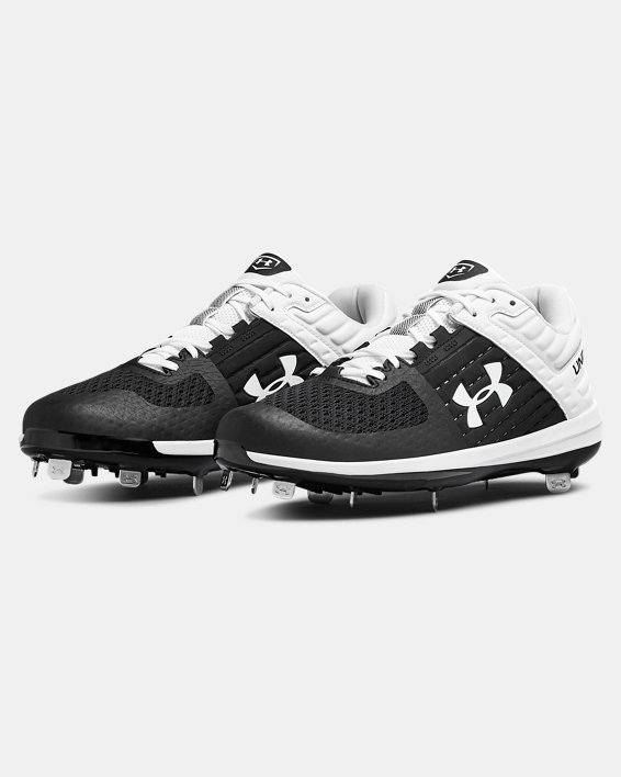 Men's UA Yard Low ST Baseball Cleats, Black, pdpMainDesktop image number 3