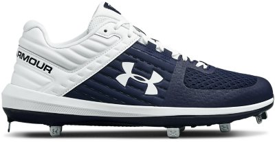 Under Armour Mens Yard Mid ST Metal Baseball Cleats Black//Charcoal
