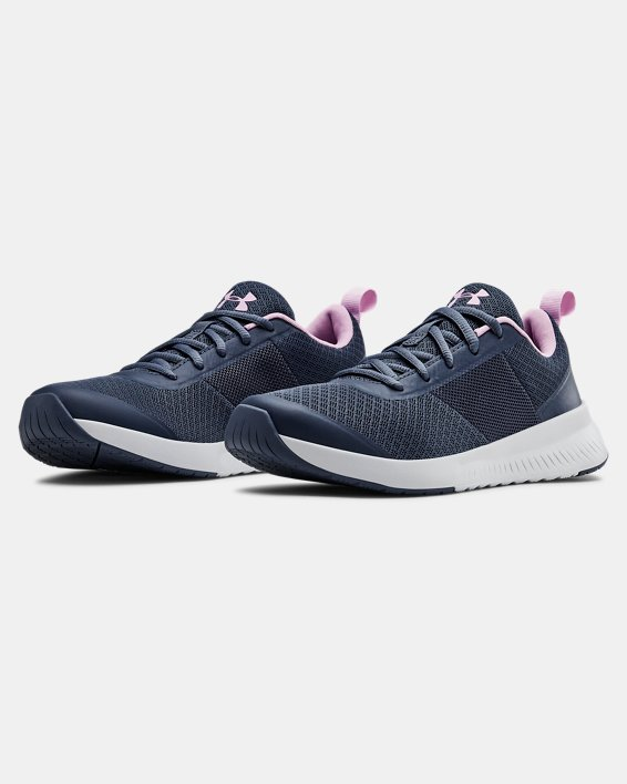 Women's UA Aura Training Shoes, Gray, pdpMainDesktop image number 4