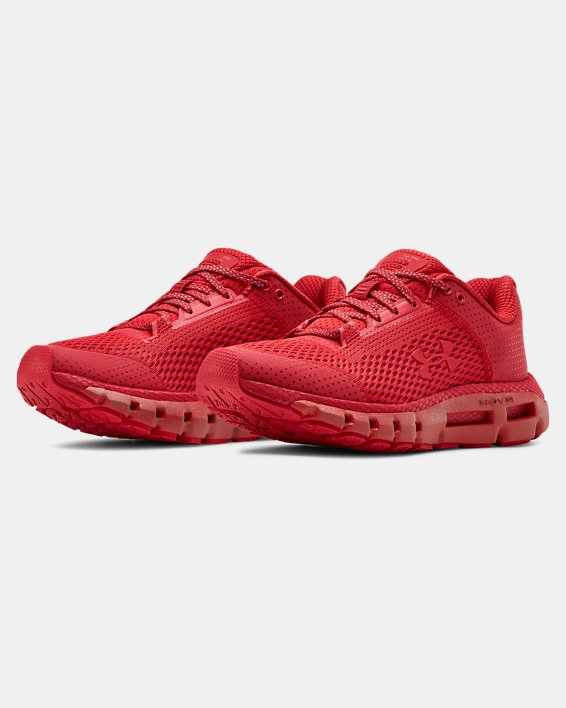 Women's UA HOVR™ Infinite Reflective Running Shoes, Red, pdpMainDesktop image number 4