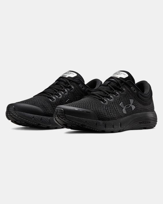 Men's UA Charged Bandit 5 Running Shoes, Black, pdpMainDesktop image number 4
