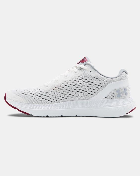Women's UA Charged Impulse Running Shoes, White, pdpMainDesktop image number 1