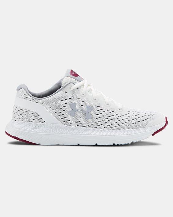 Women's UA Charged Impulse Running Shoes, White, pdpMainDesktop image number 0