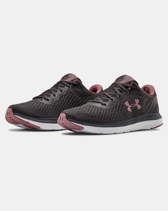 Women's UA Charged Impulse Running Shoes, Gray, pdpMainDesktop image number 4