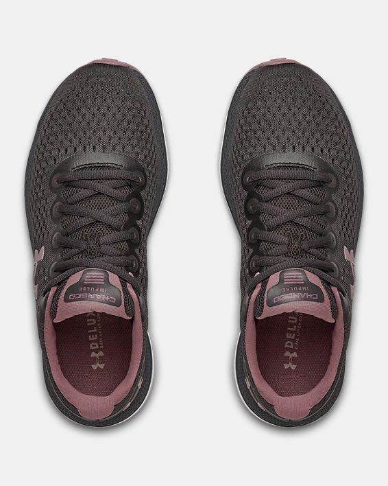 Women's UA Charged Impulse Running Shoes, Gray, pdpMainDesktop image number 3