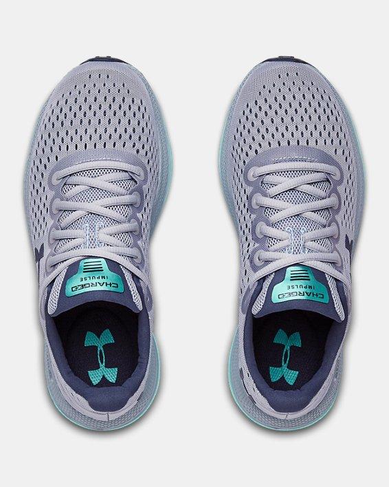 Women's UA Charged Impulse Running Shoes, Blue, pdpMainDesktop image number 3