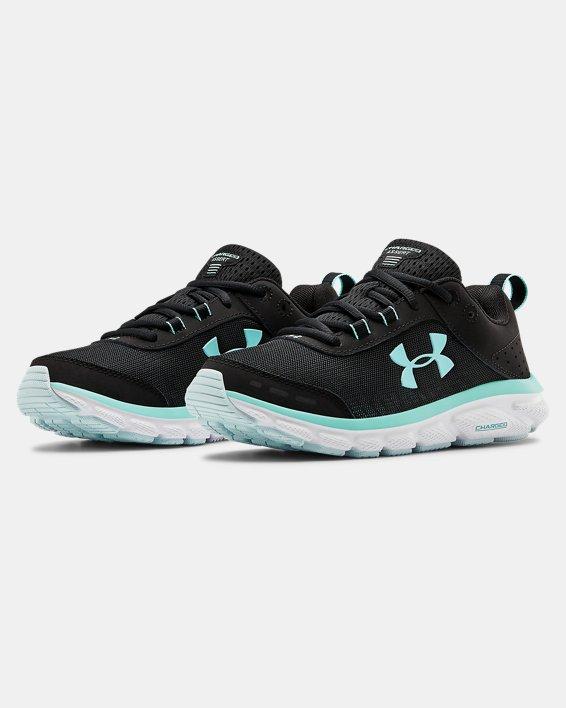 Women's UA Charged Assert 8 Running Shoes, Black, pdpMainDesktop image number 3
