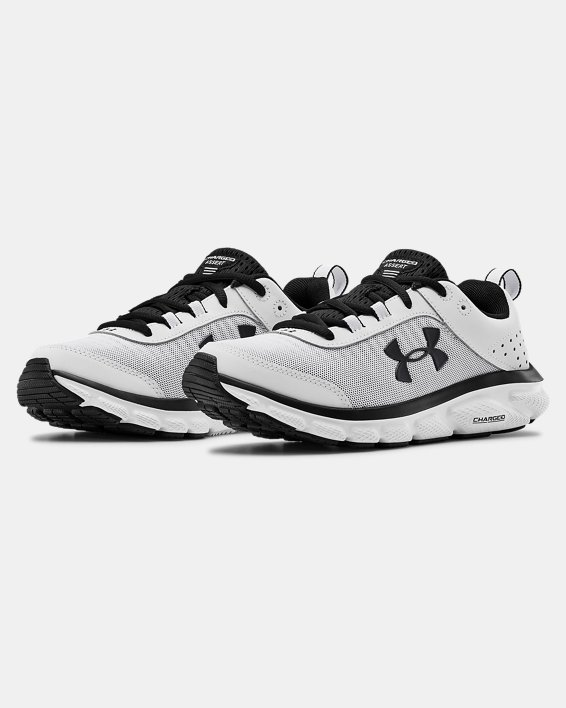 Women's UA Charged Assert 8 Running Shoes, White, pdpMainDesktop image number 3