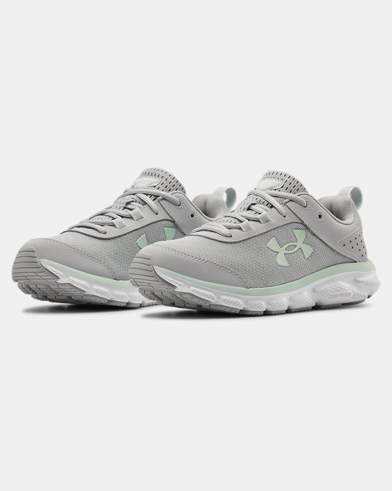 Women's UA Charged Assert 8 Running Shoes, Gray, pdpMainDesktop image number 3