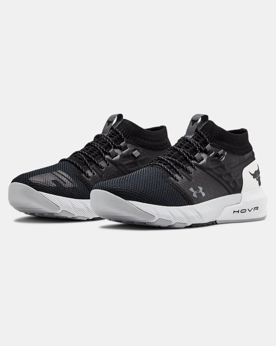 Men's UA Project Rock 2 Training Shoes, Black, pdpMainDesktop image number 4