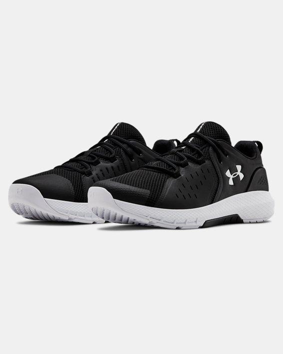 Men's UA Charged Commit 2 Training Shoes, Black, pdpMainDesktop image number 4