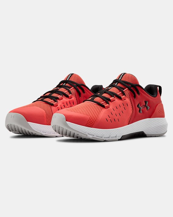 Men's UA Charged Commit 2 Training Shoes, Red, pdpMainDesktop image number 4