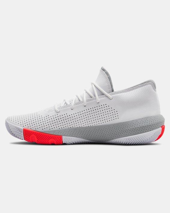 Men's UA SC 3ZER0 III Basketball Shoes, White, pdpMainDesktop image number 1