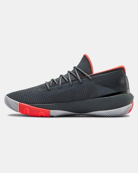 Men's UA SC 3ZER0 III Basketball Shoes, Gray, pdpMainDesktop image number 1