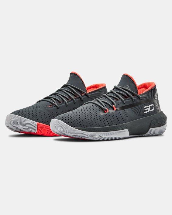 Men's UA SC 3ZER0 III Basketball Shoes, Gray, pdpMainDesktop image number 4