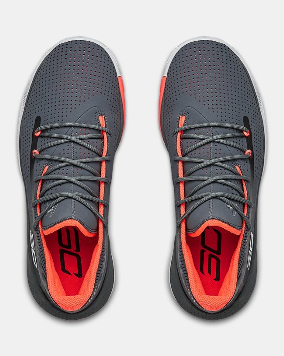 Men's UA SC 3ZER0 III Basketball Shoes, Gray, pdpMainDesktop image number 3